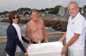 Vandtemraturudvalget gør klar til en verdensbegivenhed. Foto: Jesper Alstrøm.